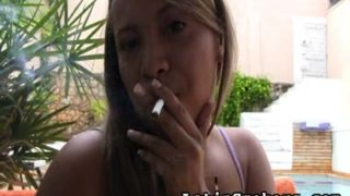 Full Figured Babe Makes Smoking So Sexy